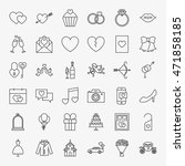wedding line icons set. vector... | Shutterstock .eps vector #471858185