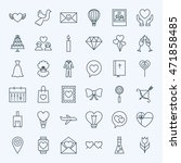 line love icons. vector... | Shutterstock .eps vector #471858485