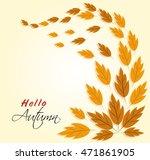 vector illustration for autumn... | Shutterstock .eps vector #471861905