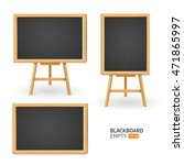black board set. different view.... | Shutterstock .eps vector #471865997