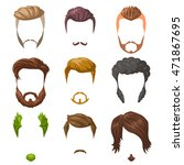 beards  mustaches and... | Shutterstock .eps vector #471867695