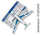 illustration of flight tickets... | Shutterstock .eps vector #471872945