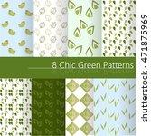 8 chic modern pattern. green... | Shutterstock .eps vector #471875969