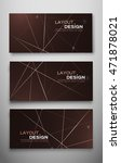 set of three abstract flyer for ... | Shutterstock .eps vector #471878021