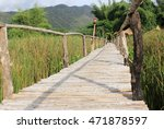 bamboo bridge walkway on green... | Shutterstock . vector #471878597