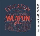 lettering. typography poster. t ... | Shutterstock .eps vector #471880889
