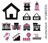 buying home icon set | Shutterstock .eps vector #471882551