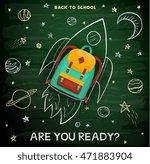 back to school creative... | Shutterstock .eps vector #471883904