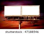 commercial blank billboard dusk ... | Shutterstock . vector #47188546