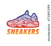 sneakers logo. shoes sign. | Shutterstock .eps vector #471891599
