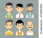 vector set of stylish male... | Shutterstock .eps vector #471892565