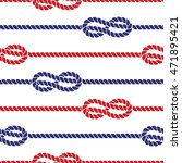 nautical ropes with knots... | Shutterstock .eps vector #471895421
