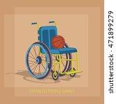 wheelchair sports. basketball... | Shutterstock .eps vector #471899279