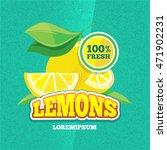 vector retro poster with juicy... | Shutterstock .eps vector #471902231