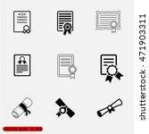 diploma icon eps10 vector eps... | Shutterstock .eps vector #471903311