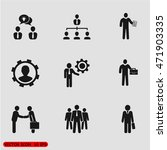 businessman icon set | Shutterstock .eps vector #471903335
