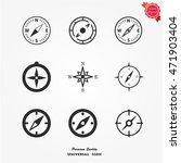 compass icon vector | Shutterstock .eps vector #471903404