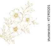 blossom cherry flowers in... | Shutterstock .eps vector #471905201