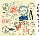 vector document stamp set.... | Shutterstock .eps vector #471905714