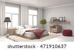 bedroom interior. 3d... | Shutterstock . vector #471910637