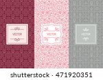 vector set of design elements ... | Shutterstock .eps vector #471920351