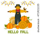 vector autumn background with... | Shutterstock .eps vector #471921155