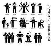 positive personalities... | Shutterstock . vector #471921377