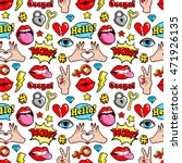 seamless pattern with fashion... | Shutterstock .eps vector #471926135
