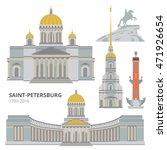 saint petersburg flat cityscape....   Shutterstock .eps vector #471926654
