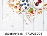 homemade blueberries ... | Shutterstock . vector #471928205