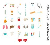 medical vector icons | Shutterstock .eps vector #471928469