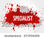 specialist word cloud collage ... | Shutterstock .eps vector #471934205