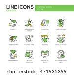 charity   modern vector line... | Shutterstock .eps vector #471935399
