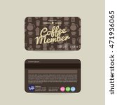 front and back coffee voucher... | Shutterstock .eps vector #471936065
