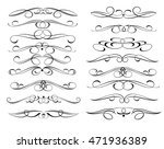 set of decorative elements.... | Shutterstock .eps vector #471936389