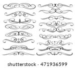 set of decorative elements.... | Shutterstock .eps vector #471936599
