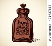 apothecary can with dia envenom ... | Shutterstock .eps vector #471937889