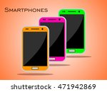 set of smartphones | Shutterstock .eps vector #471942869