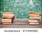 pile of books with green... | Shutterstock . vector #471944585