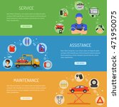 car service horizontal banners... | Shutterstock .eps vector #471950075