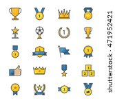 award and trophy ribbon best... | Shutterstock .eps vector #471952421