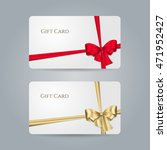white gift card with red ... | Shutterstock .eps vector #471952427