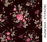 seamless floral pattern with... | Shutterstock .eps vector #471952781