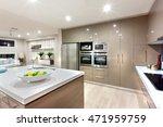 wall cabinets with the ovens... | Shutterstock . vector #471959759