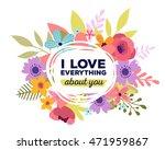 vector illustration of floral... | Shutterstock .eps vector #471959867