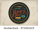coaster for beer with hand... | Shutterstock .eps vector #471961019