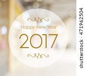 happy new year 2017 year on...   Shutterstock . vector #471962504