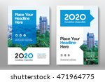 blue color scheme with city... | Shutterstock .eps vector #471964775