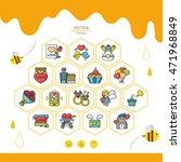 icon set vector   Shutterstock .eps vector #471968849