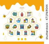 icons set kitchen vector | Shutterstock .eps vector #471969044
